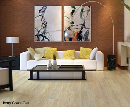 Flooring made with Coretec Plus features the most popular looks in hardwood, stone and slate flooring